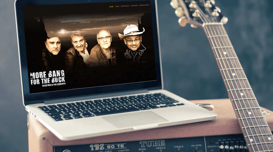 Responsive manuell programmierte Website der Band - More Bang for the Buck - aus Kerpen